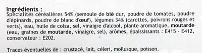 Torsades aux trois couleurs - Ingredients - fr