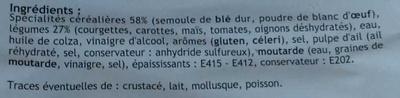 Penne aux petits légumes - Ingrédients - fr