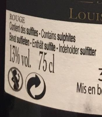 vin rouge côte du Rhône - Ingrédients - fr