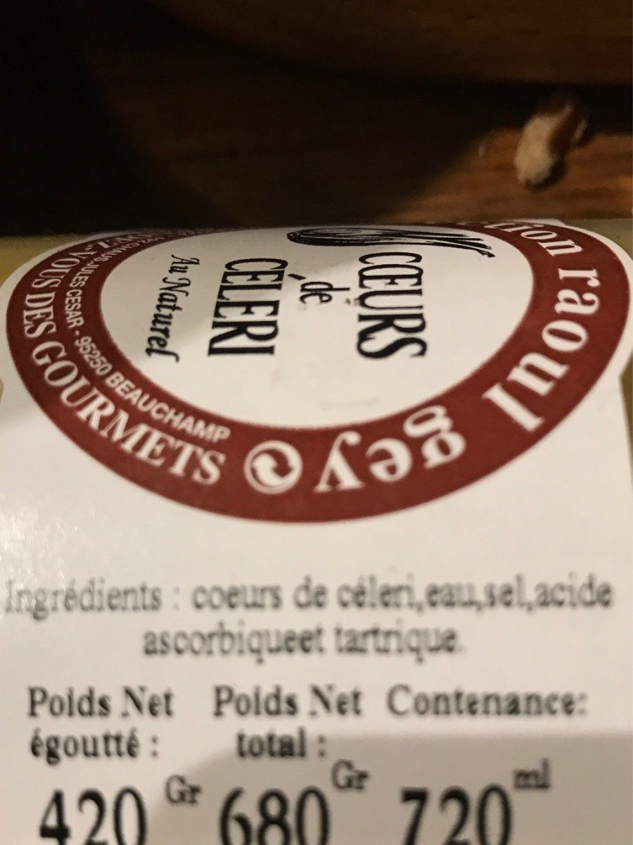 Coeurs de celeri - Ingrédients - fr