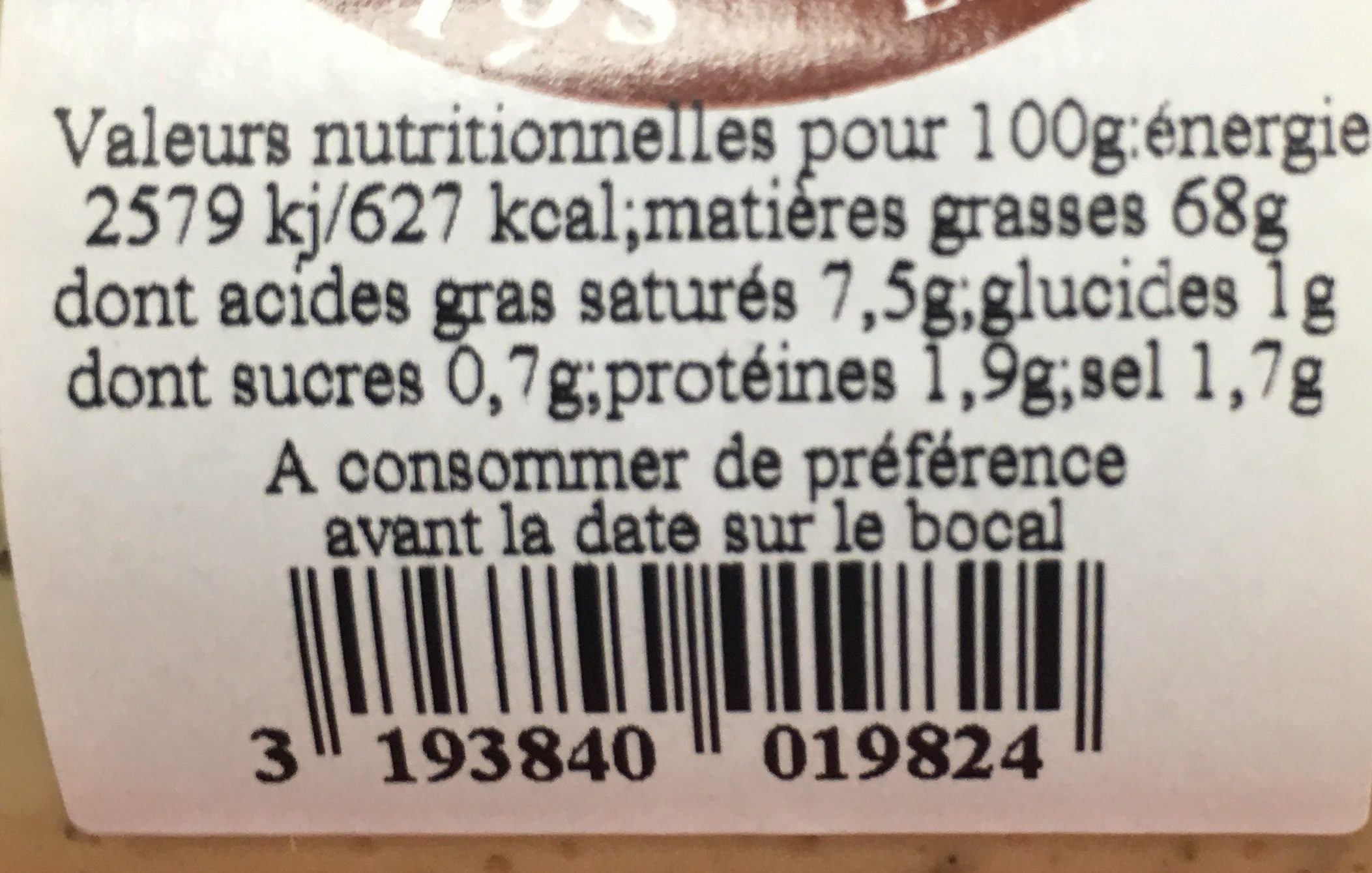 Sauce tartare - Ingrediënten