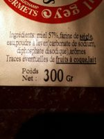 Pain d épice pur miel - Ingrediënten - fr