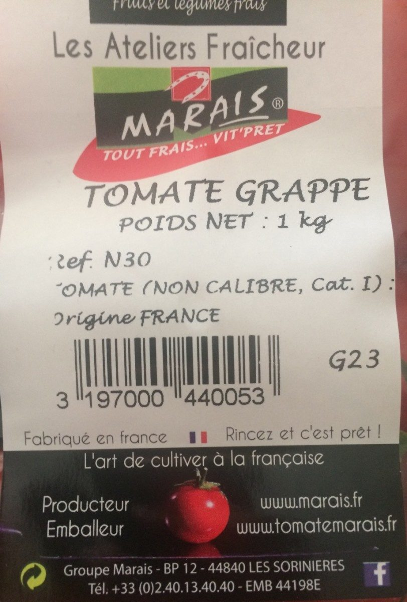 Tomate grappe - Ingrédients