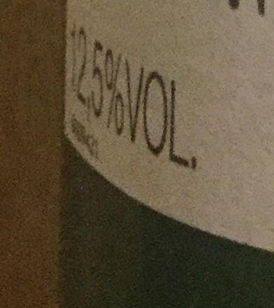 Vin 2014 - Voedingswaarden