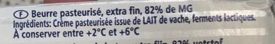 Beurre de Baratte d'Excellence Doux - Ingrediënten