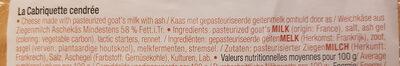 La cabriquette cendrée - Ingredienti - fr