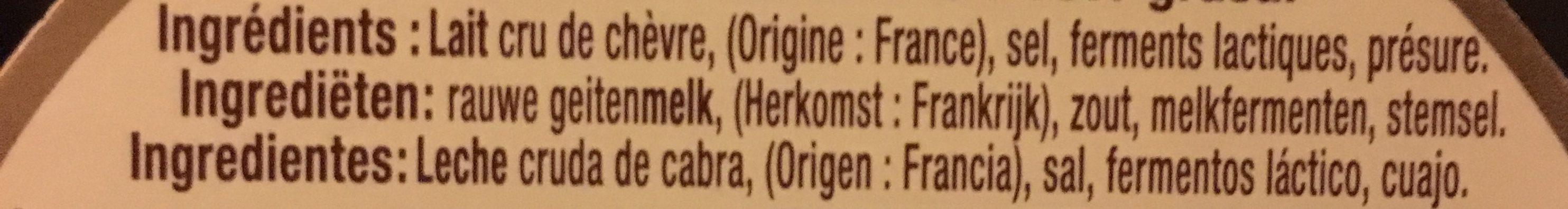 Le petit chevrot au lait cru - Ingrédients - fr