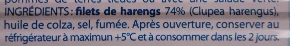 Filets de Harengs fumés à l'huile - Ingredients