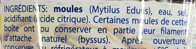 Moules au naturel - Ingredients