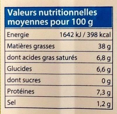 Foie de Morue Goût Fumé - Informations nutritionnelles
