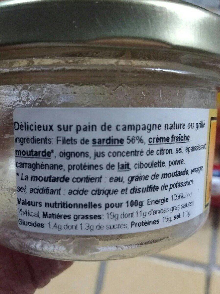 Rillettes de sardine - Valori nutrizionali - fr