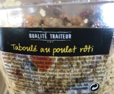 Taboulé au poulet rôti - Ingrédients