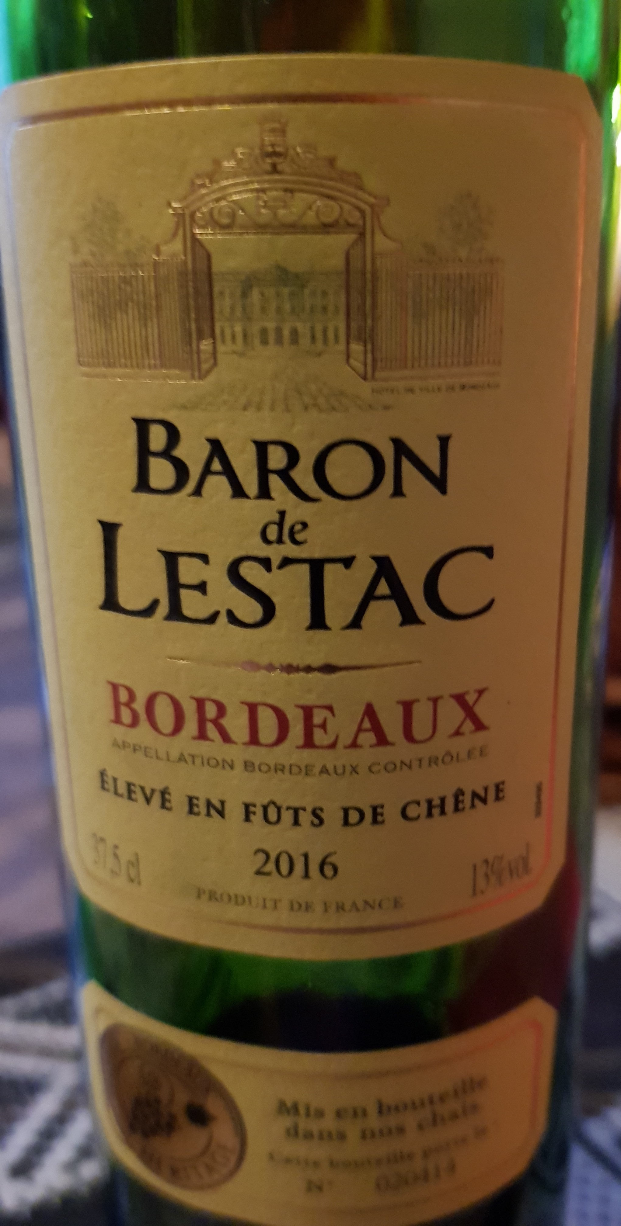 vin de Bordeaux 2016 - Product