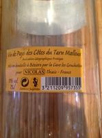 vin de pays des côtes du Tarn moelleux - Product