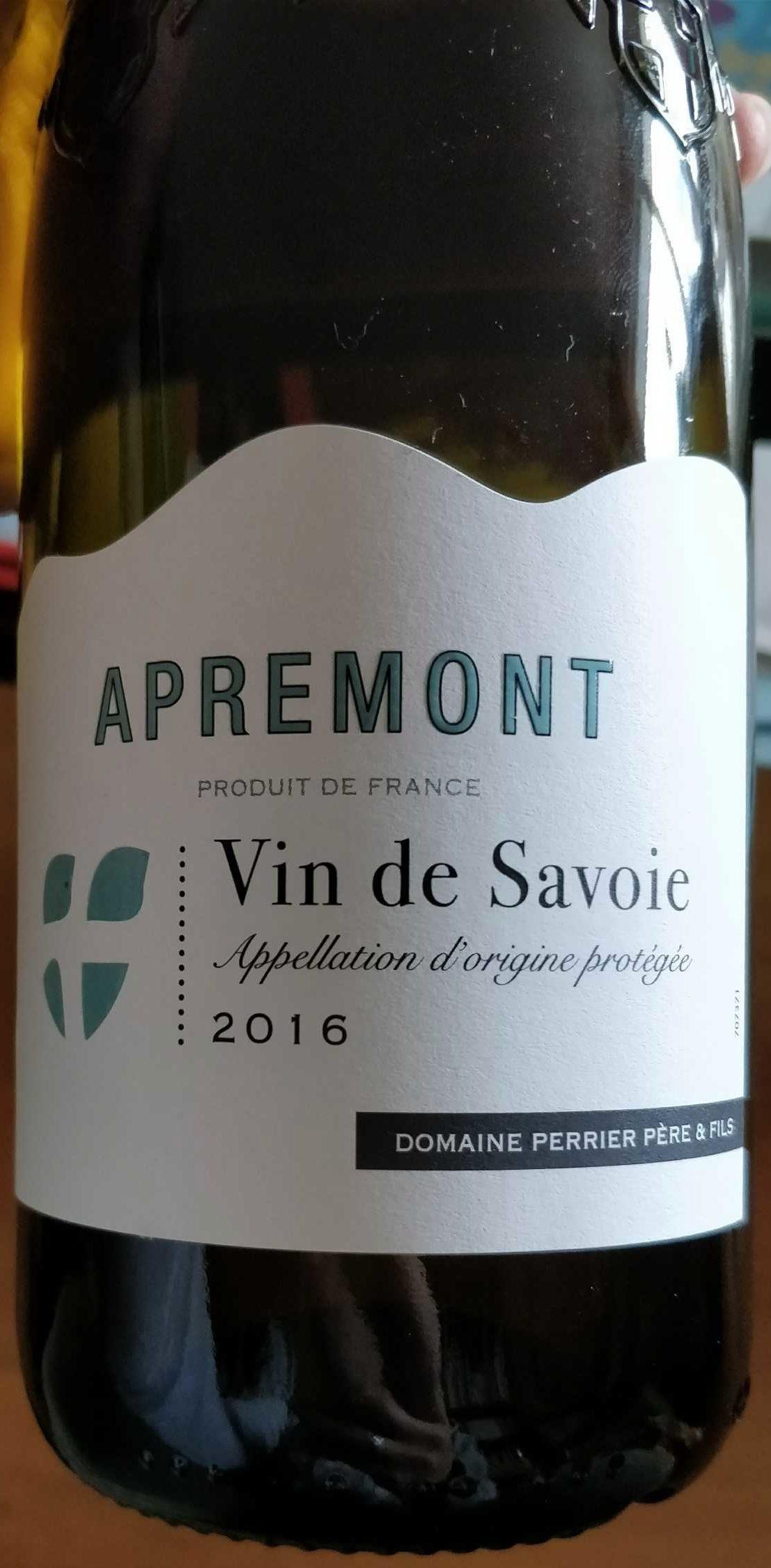 Apremont Vin de Savoie 2016 - Produit - fr