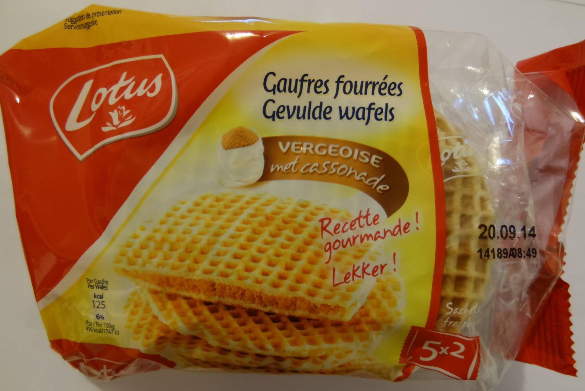 Gaufres Fourrées Vergeoise - Product - fr