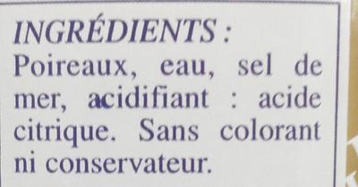 Mini poireaux - Ingrédients - fr