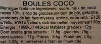 Zip &zap Boules Coco - Ingrédients