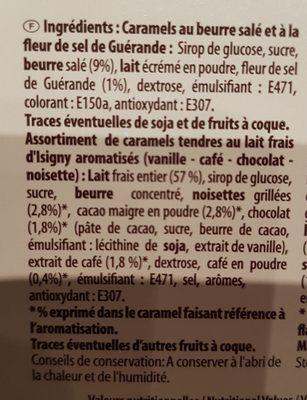 240G Boite Assortiment Caramel Dupont D'isigny - Ingrediënten - fr