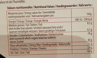 240G Boite Assortiment Caramel Dupont D'isigny - Voedingswaarden - fr