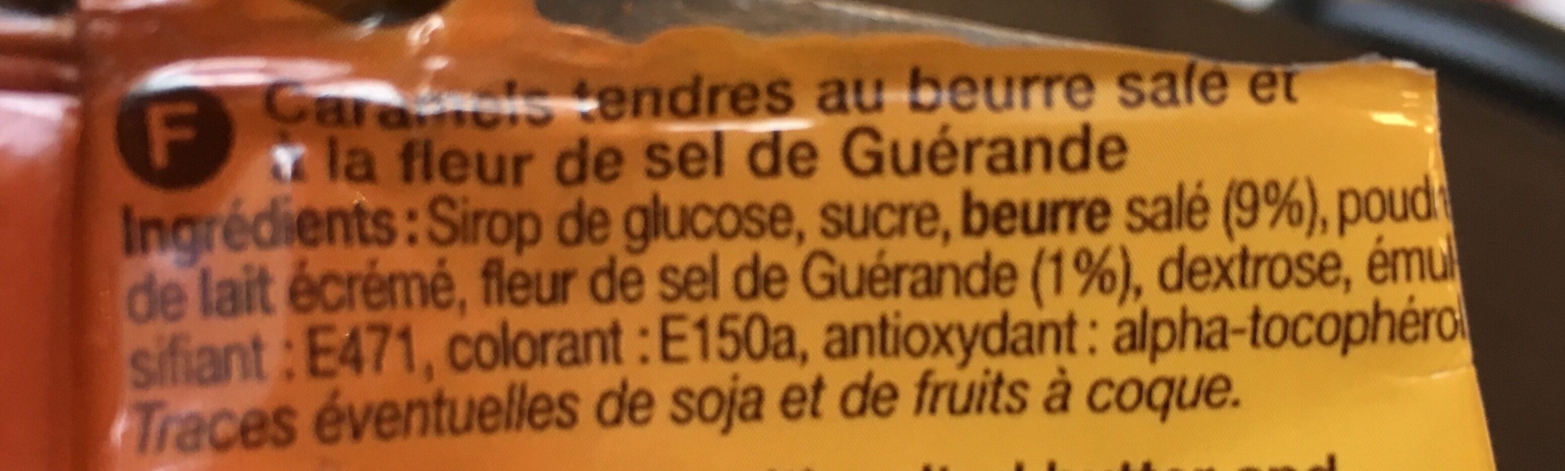 Caramels au beurre salé et à la fleur de sel de guérande - Ingrediënten
