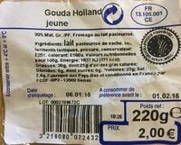 Gouda Holland jeune - Product - fr
