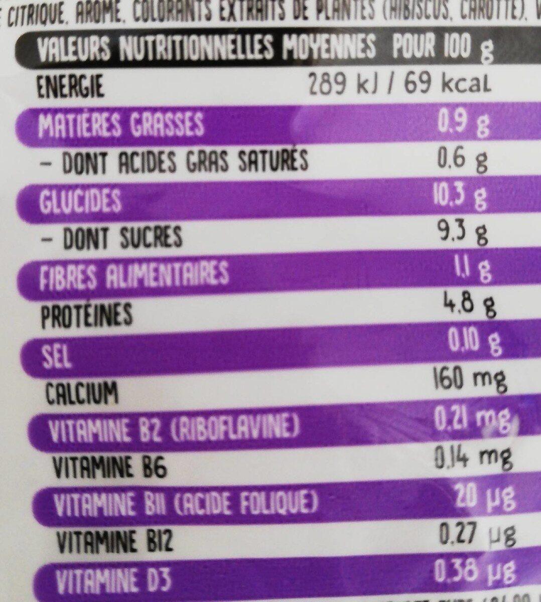 Campina reveil malin - Informations nutritionnelles - fr