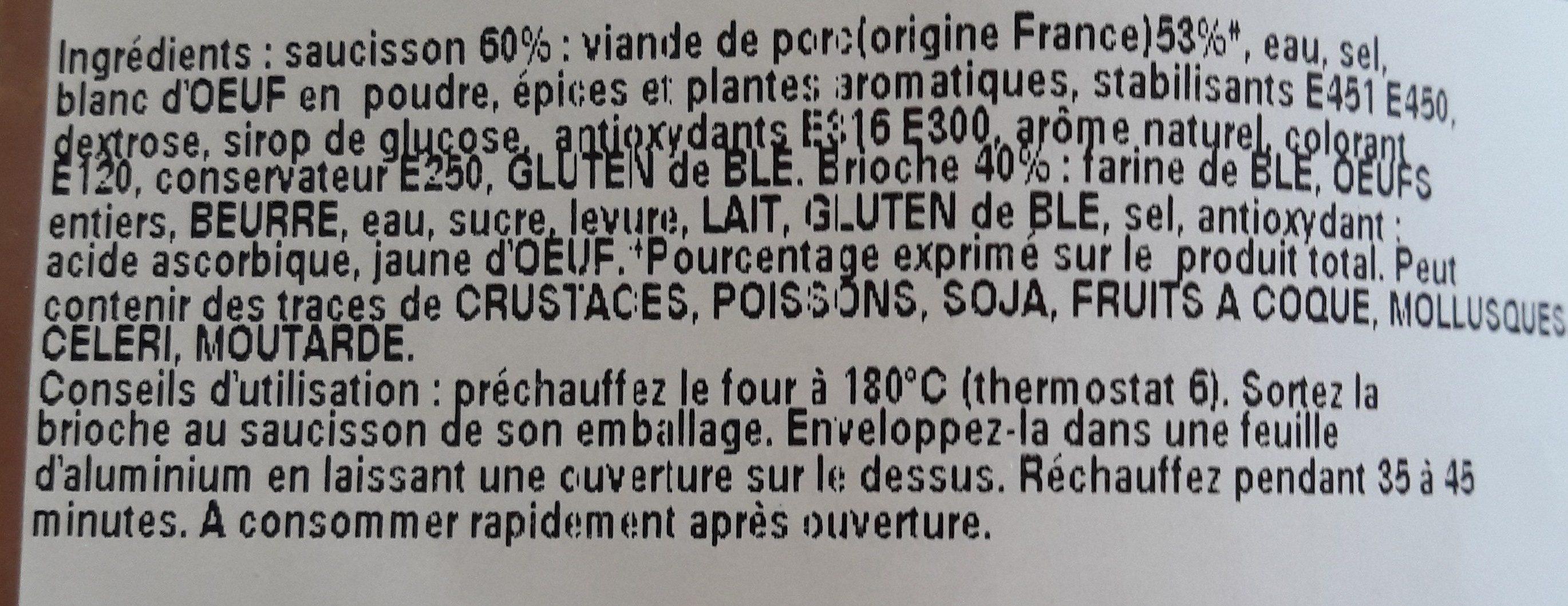 Saucisson brioché lyonnais - Ingrédients - fr