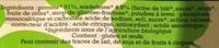 Spécialité de pomme madeleine - Ingrédients - fr