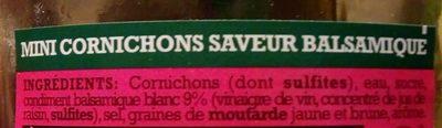 Mini cornichons balsamique - Ingrédients - fr