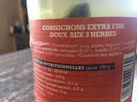 Cornichons extra fin vinaigre doux aux 3 herbes - Product