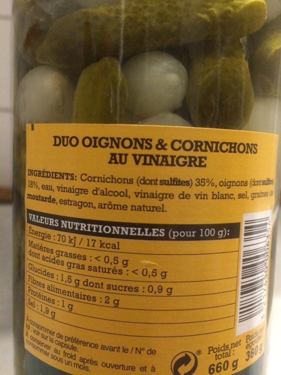 Duo oignons et cornichons - Ingrediënten