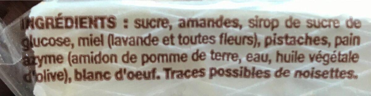 Nougat de Montelimar Tendre - Ingrédients - fr