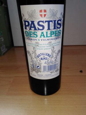 Pastis des Alpes - Ingrédients - en