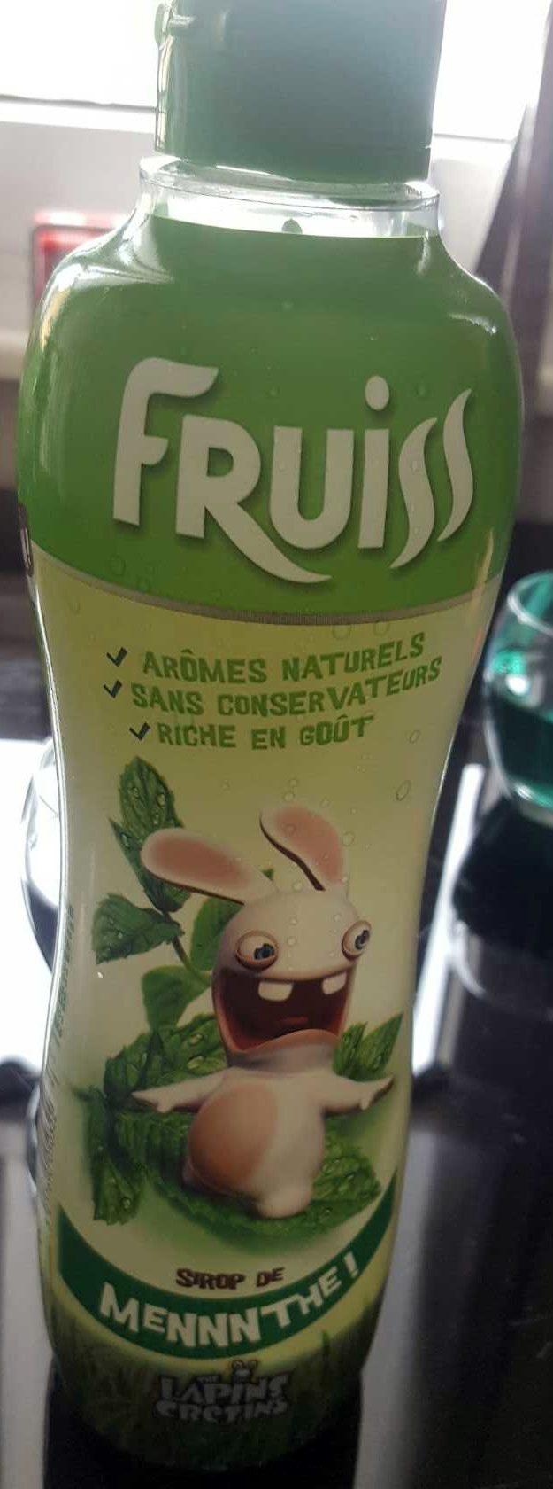 Sirop menthe Fruiss - Produit