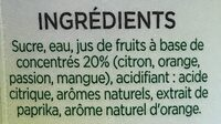 Sirop fruits exotiques - Ingrédients - fr