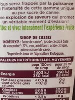 Fruiss Bio Cassis - Ingredients