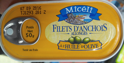 Filets d'anchois allongés à l'huile d'olive - Product
