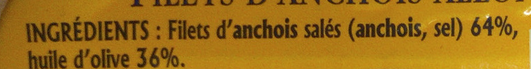Filets d'anchois allongés à l'huile d'olive - Ingrediënten - fr