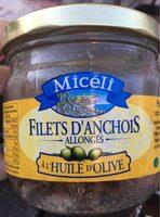 Fillets d'anchois allongés à l'huile d'olive - Product - fr