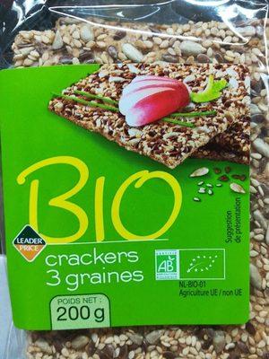 Crackers 3 Graines Bio - Produit - fr