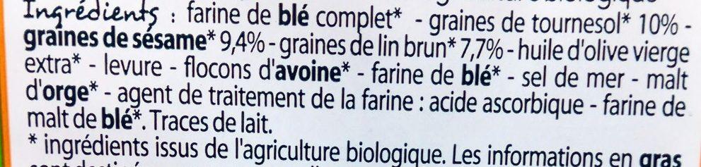 Crackers 3 Graines Bio - Ingrédients - fr