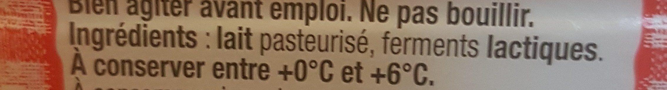 Le Lait Ribot - Ingrédients - fr