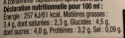 Le Lait Ribot - Informations nutritionnelles - fr