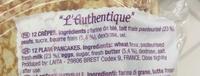 Crêpes L'Authentique - Ingrediënten - fr