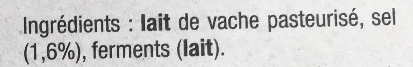 Camembert Le Kergall (23 % MG) - Ingrédients - fr
