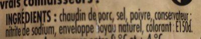 Véritable Andouille de Guéméné - Ingrediënten