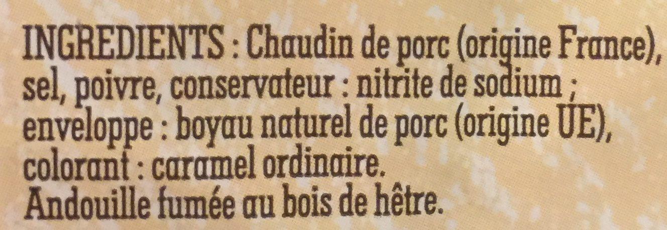 Veritable andouille de Guémemé - Ingrediënten
