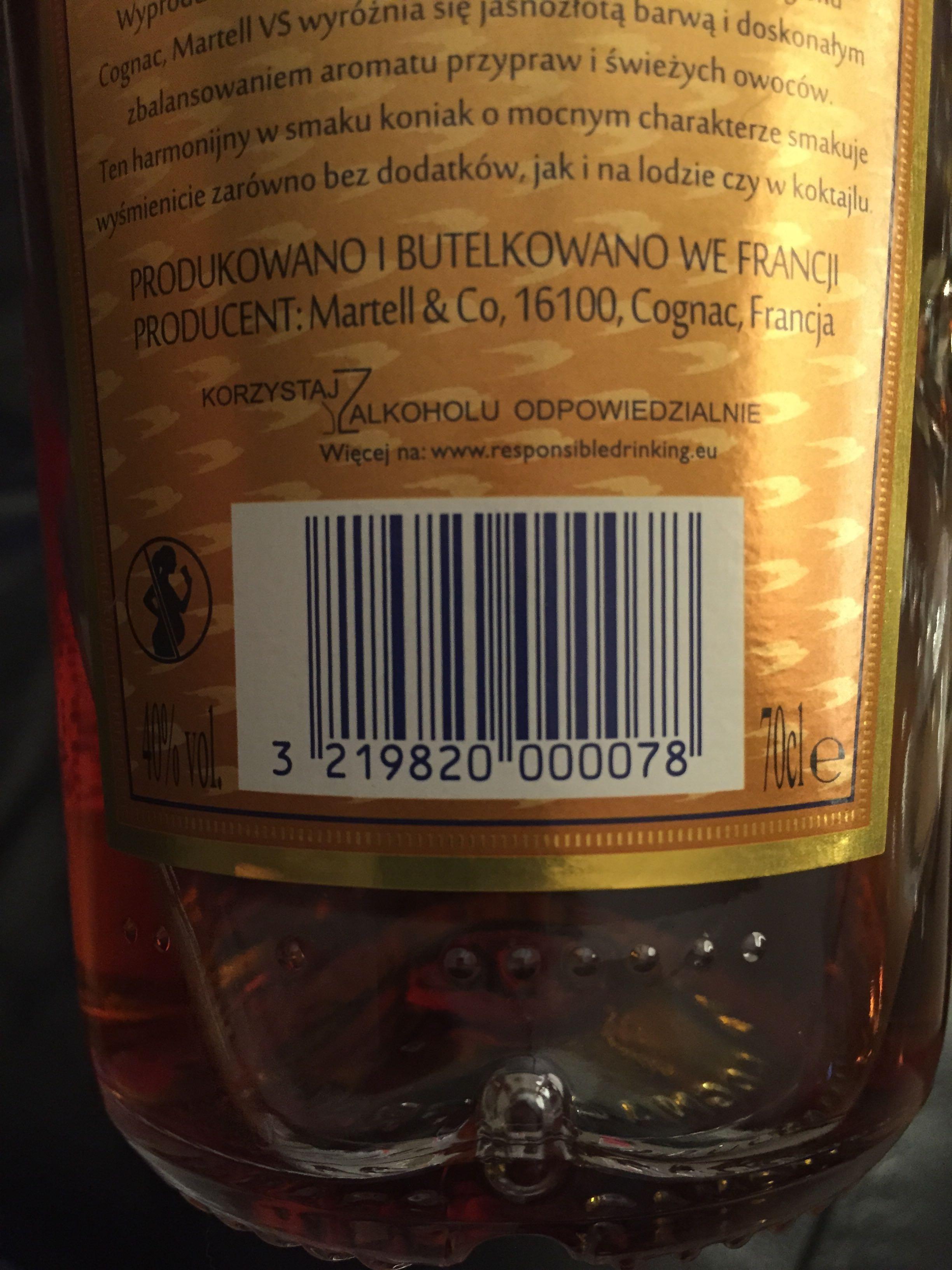 Martell Cognac - Produkt
