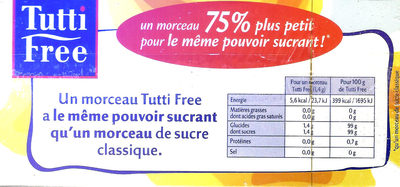 Tutti Free - Nutrition facts